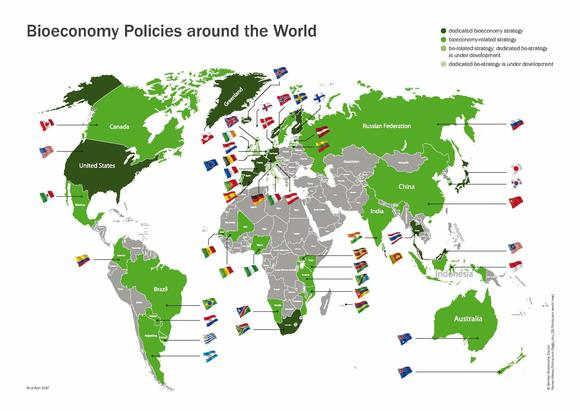 Overview of political bioeconomy strategies